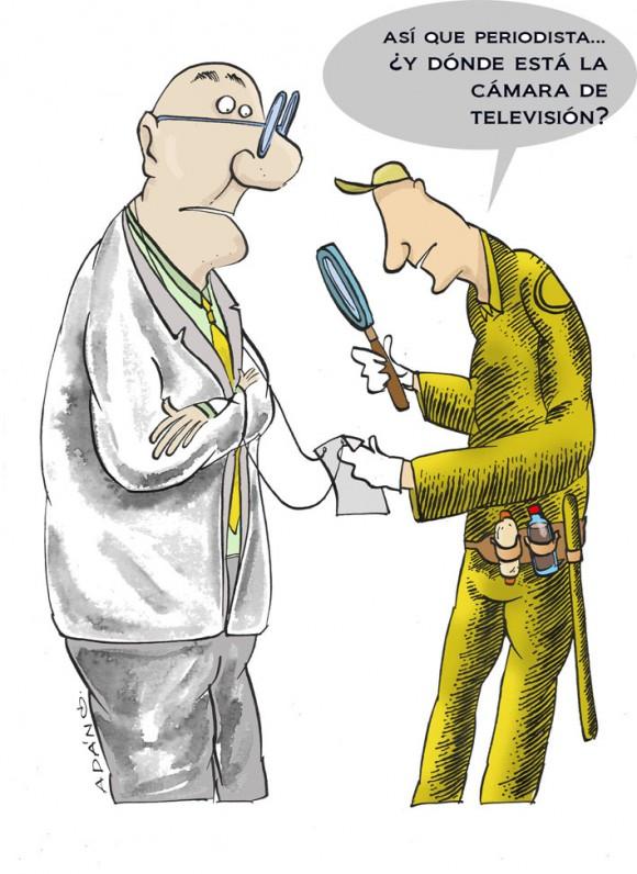 ¿Periodista?. Caricatura: Adán