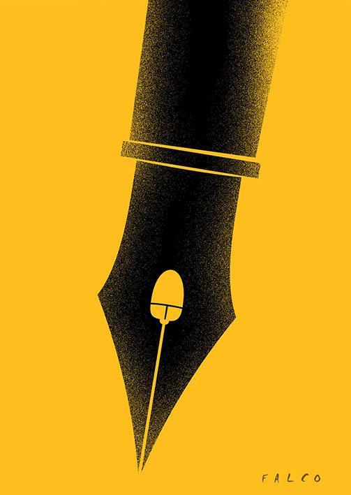 Digitalización. Caricatura: Falco