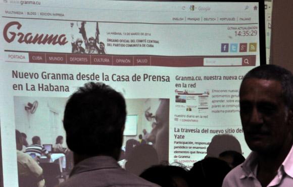 Presentan nuevo portal digital del periódico Granma. Foto: Ismael Francisco/Cubadebate