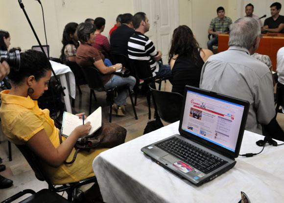 Presentación del nuevo diseño de la web de Granma. Foto: Ismael Francisco/Cubadebate