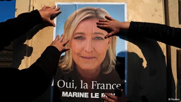 Importante avance de la extrema derecha en Francia. Foto: Reuters.