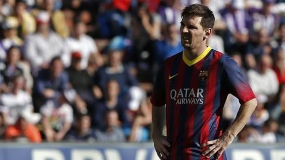 Messi se lamenta con el Barcelona. Foto: Eurosport.