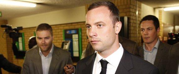 Oscar Pistorius llega a la Corte. Foto: AFP.