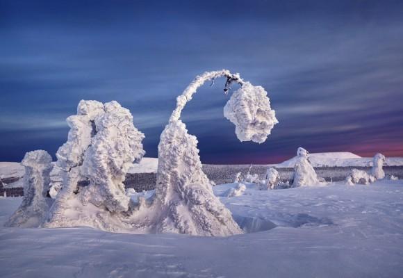 Las formas evocan esculturas de algún lugar imaginario. Foto: Serguéi Makurin.