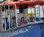 La Cachimba, lancha del servicio público de pasaje, une a las comunidades de El Caliche y San Antonio con la ciudad de Gibara, cabecera municipal ubicada al norte de la oriental provincia de Holguín, Cuba. FOTO/Juan Pablo Carreras/Cubadebate