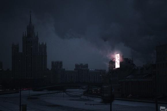 El Mordor de Moscú. Esta fotografía fue tomada al anochecer, justo en el momento en el que las luces de la ciudad se encienden en el centro de Moscú.