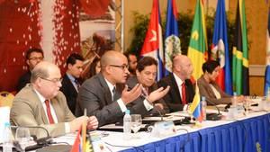 Declaraciones del vicepresidente para el Área Social, Sr. Hector Rodríguez y del vicepresidente de PDVSA Sr. Asdrúbal Chávez, en el marco de la Reunión Petrocaribe - FAO.