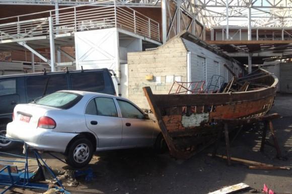 El sismo causó destrozos en las ciudades costerasFoto .AFP