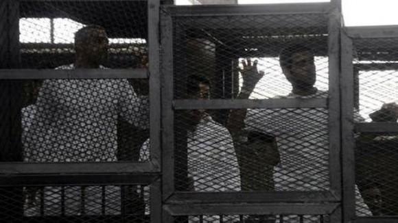 Condenados a muerte en la vista judicial efectuada en  Egipto. Foto: EFE