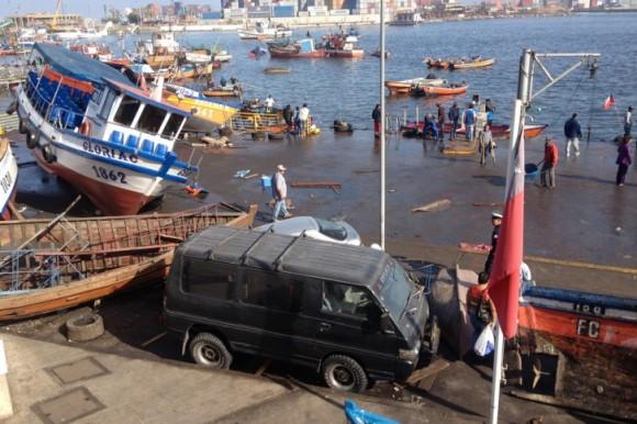 El terremoto tuvo su epicentro en el mar, frente a la zona de la región de Tarapacá. Foto: AFP