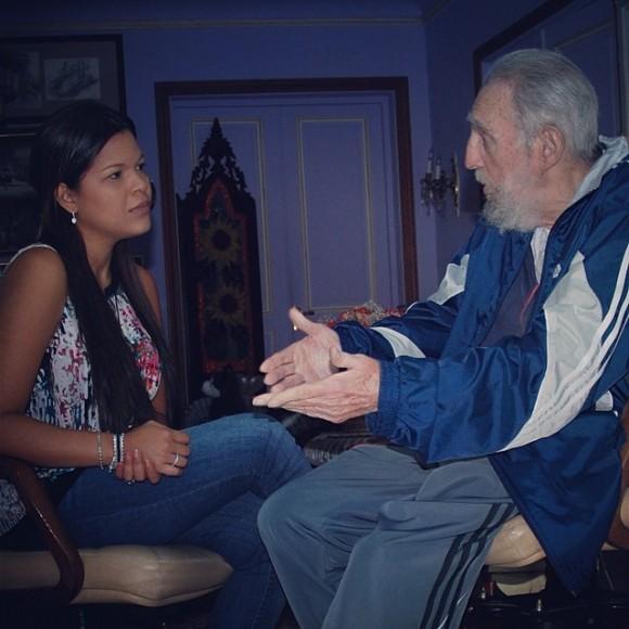 Fidel Castro y Maria Gabriela Chavez