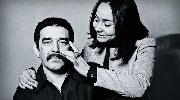 Gabriel García Márquez y su esposa Mercedes Barcha.