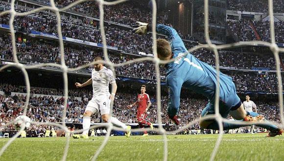Gol de Benzema ante el Bayern