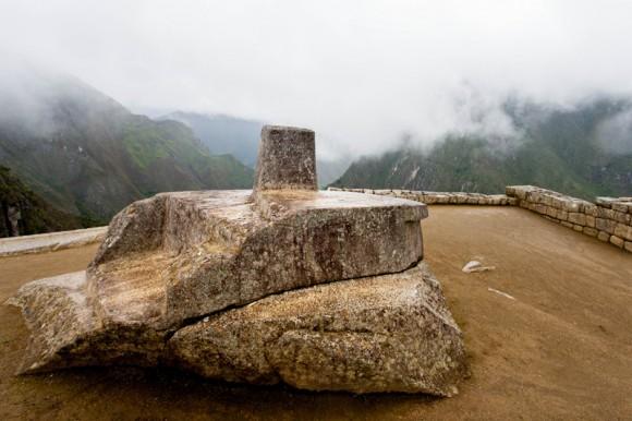 Piedra de Intihuatana, usada para observaciones astronómicas.