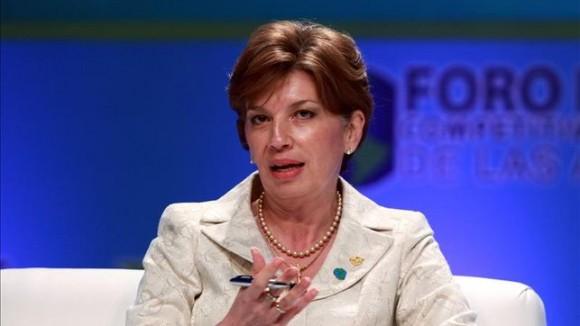 Mayi Antillón, ministra de Economía, Industria y Comercio de Costa Rica.