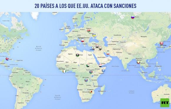 Paises sanciones EEUU