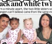 Las hermanas Kian y Remee con sus padres. Foto publicada por el Daily Mail en el 2006.