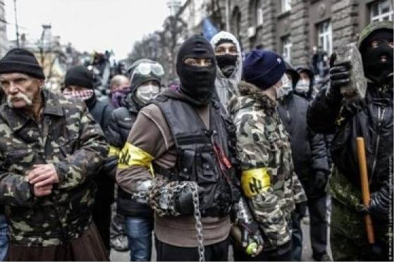 La organización, liderada por el candidato presidencial Dmitri Yarosh, tuvo un protagonismo clave en las acciones violentas durante las protestas antigubernamentales.