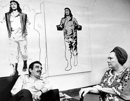 Gabriel García Márquez y Haydée Santamaría en Casa de las Américas.