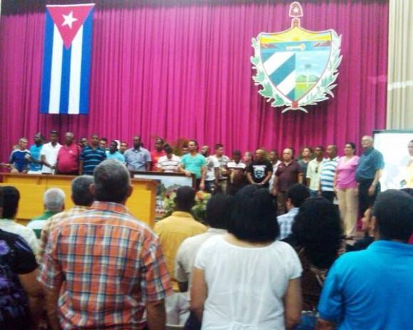 Homenaje al equipo Pinar del Río, Campeón Nacional de Béisbol 2014 en la Asamblea Provincial del Poder Popular. Foto: Belkys Pérez Cruz