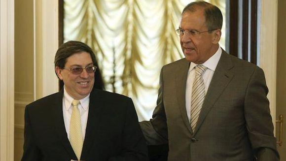 Serguey Lavrov y el Canciller cubano Bruno Rodríguez. Foto: EFE / Archivo de Cubadebate