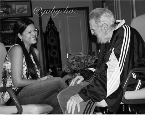 """Otra imagen publicada por María Gabriela, con el siguiente comentario: """"Gracias por tanto, Fidel. La Habana, 27 de abril de 2014"""""""