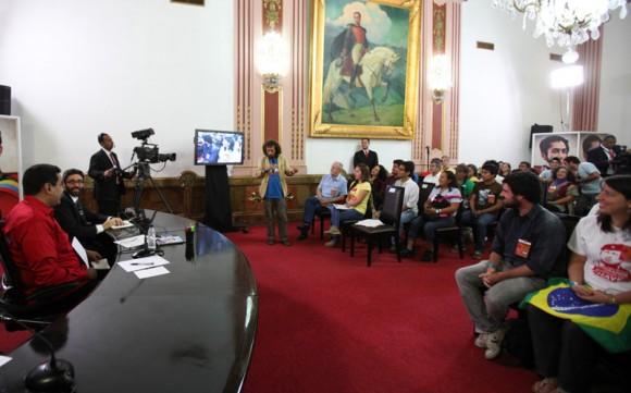 Movimientos sociales del ALBA se reunen con el Presidente Nicolás Maduro