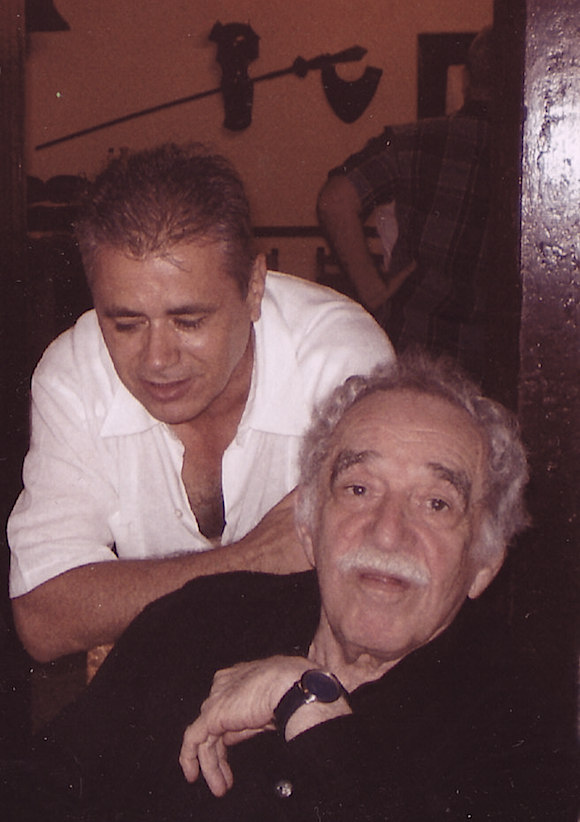 Senel Paz y Gabriel García Márquez en La Habana. Foto: Archivo de Senel Paz.