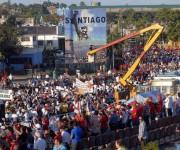Desfile  por el Primero de Mayo, Día Internacional de los Trabajadores, efectuado en la Plaza de la Revolución Antonio Maceo, en Santiago de Cuba,  el 1ro. de mayo de 2014. AIN FOTO/Miguel RUBIERA JUSTIZ
