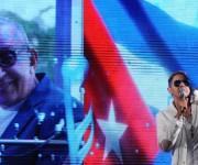 El cantante cubano Paulo FG, durante el homenaje ofrecido a Juan Formell, fundador de los Van Van y Premio Nacional de Música, en la Tribuna Antiimperialista José Martí, en La Habana, Cuba, el 3 de mayo de 2014.  AIN FOTO/Omara GARCÍA MEDEROS