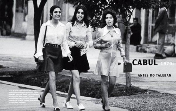 Afghan women in the 1970s before the CIA-led intervention.