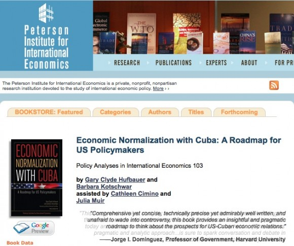 "El libro ""Economic Normalization with Cuba: A Roadmap for US Policymakers."