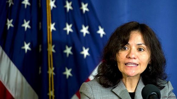 """Foto: """"Puede que usted no los conozca, pero ellos lo conocen a usted"""", advirtió Edith Ramírez, presidenta de la Comisión Federal de Comercio de Estados Unidos / BBC Mundo"""