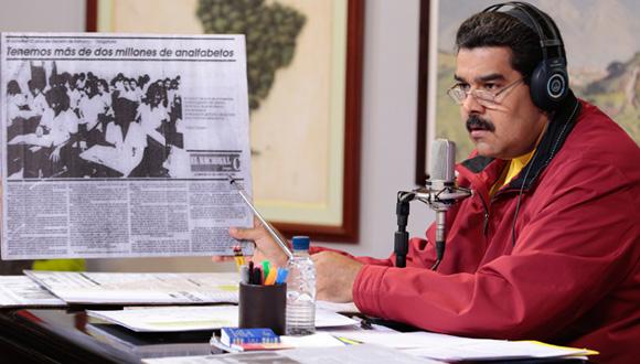 Presidente de Venezuela, Nicolás Maduro, en rueda de prensa. Foto: Cubadebate