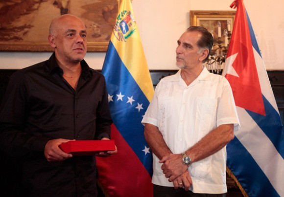 Entrega de la llave de la ciudad de Caracas a René González