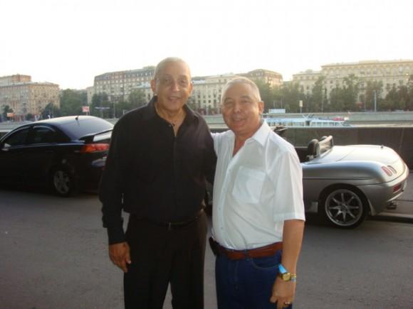 Con Formell, durante su concierto en Moscú, el 17 de julio 2010. Foto: Pedro González