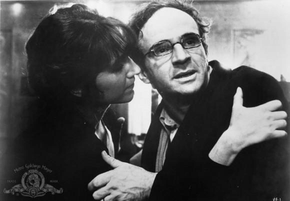 François Truffaut y Nathalie Baye en La habitación verde (1978)