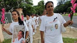 Imagen de una marcha de las Damas de Blanco en Cuba, EFE.