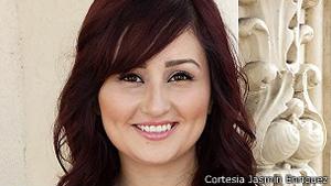 Jasmin Enríquez fue abusada sexualmente en su primer año de Universidad.