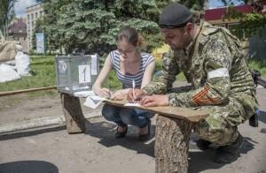 Referéndum organizado por los llamados miembros de la República Donets. Foto: Reuters