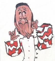 Luis Carbonell. Caricatura: LAZ