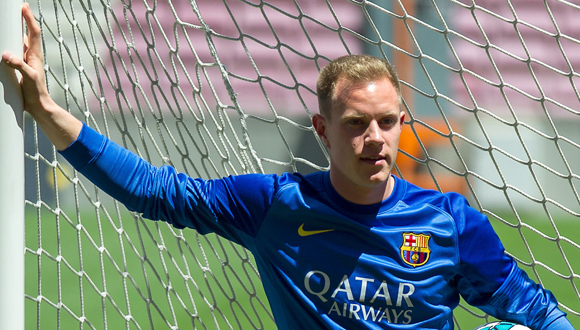 Marc-Andre Ter Stegen Is Unveiled At Camp Nou As New Barcelona Signing
