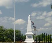 Monumento en el lugar donde cayó en combate José Martí, en Dos Ríos, provincia Granma. Foto: Juan Pablo Carreras/ AIN
