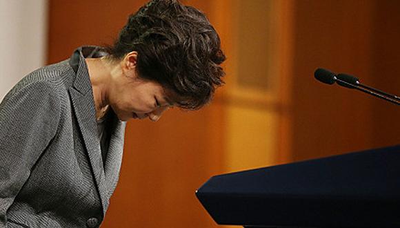 Park Geun-hye, expresidenta de Corea del Sur. Foto: AFP.