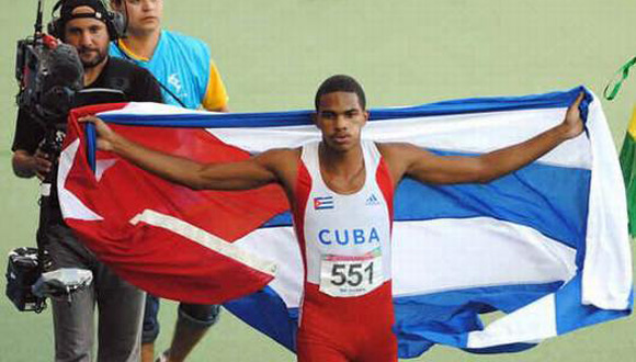 Roberto Skyers ganó la Copa Cuba en los 100 metros planos. Foto: Archivo.