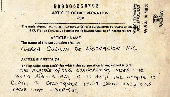 Uno de los detenidos en La Habana fundo empresa paramilitar en Miami