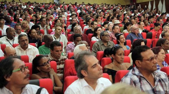"""Audiencia """"Los Cinco, la guerra mediática y la subversión contra Cuba"""". Foto: Ismael Francisco/Cubadebate."""