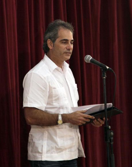 """Alberto Nuñez en Audiencia  """"Los Cinco, la guerra mediática y la subversión contra Cuba"""". Foto: Ismael Francisco/Cubadebate."""