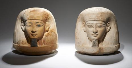 Objetos hallados en la tumba de la familia del faraón Amenhotep III. University of Basel