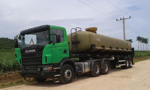 camión scania de carga en Cuba